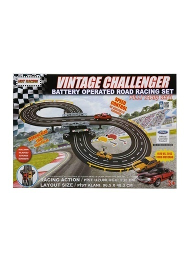 Sunman Sunman 06037 Vintage Challenger Işıklı Uzaktan Kumandalı Oyuncak Yarış Seti Renkli